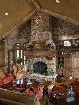 Cute rustic fireplace design ideas 29