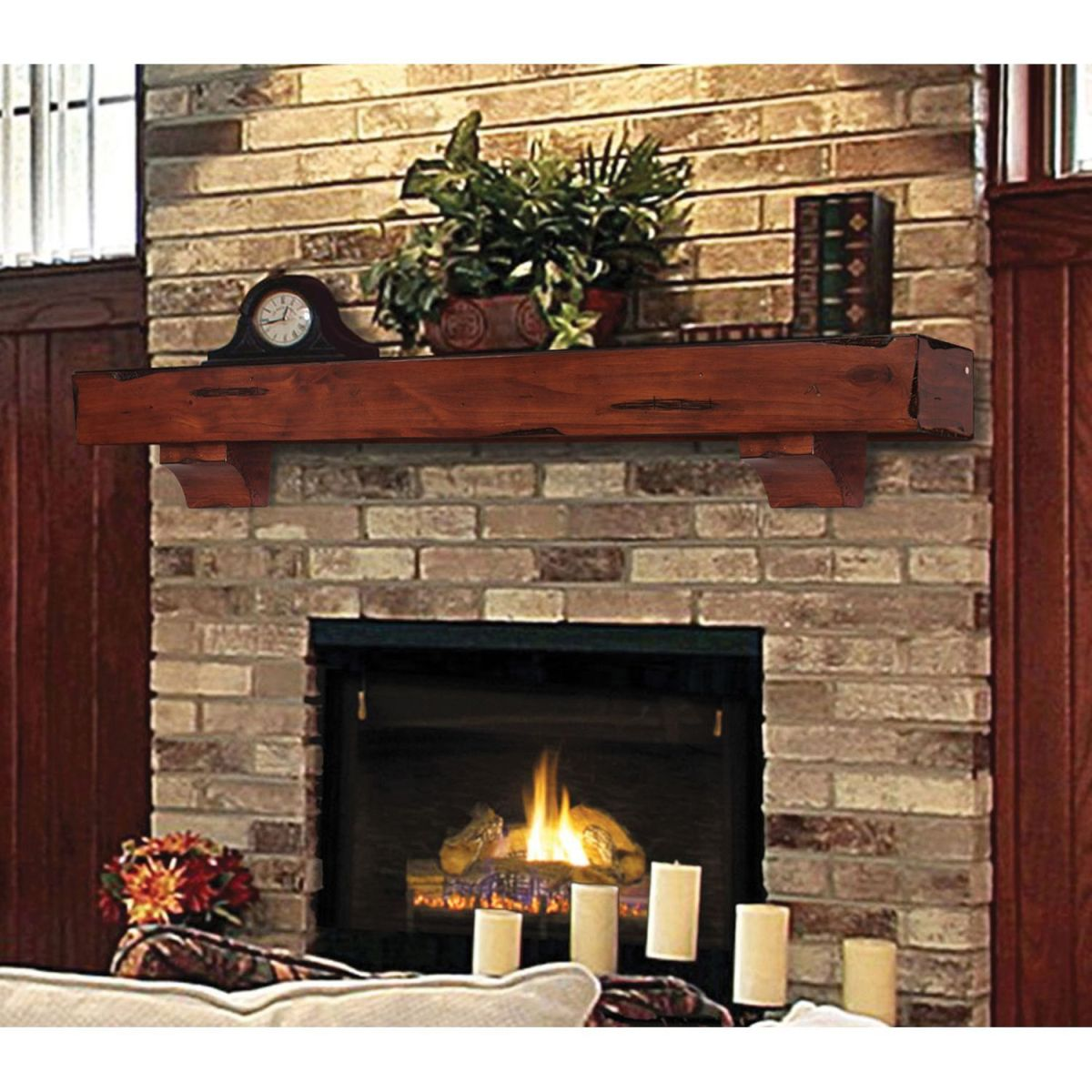 Cute rustic fireplace design ideas 31