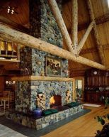 Cute rustic fireplace design ideas 36