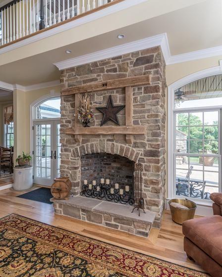 Cute rustic fireplace design ideas 39