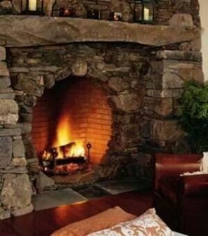 Cute rustic fireplace design ideas 43