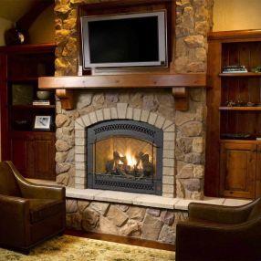 Cute rustic fireplace design ideas 44