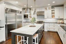 Easy grey and white kitchen backsplash ideas 19