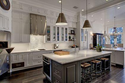 Easy grey and white kitchen backsplash ideas 23