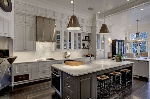 Easy grey and white kitchen backsplash ideas 23