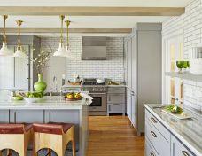 Easy grey and white kitchen backsplash ideas 30