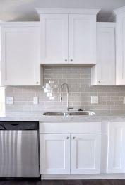 Easy grey and white kitchen backsplash ideas 37