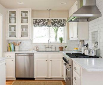 Easy grey and white kitchen backsplash ideas 38