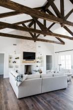 Easy rustic living room design ideas 11
