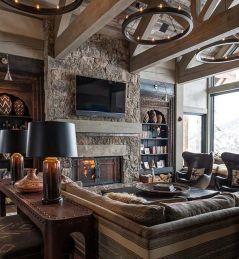 Easy rustic living room design ideas 12