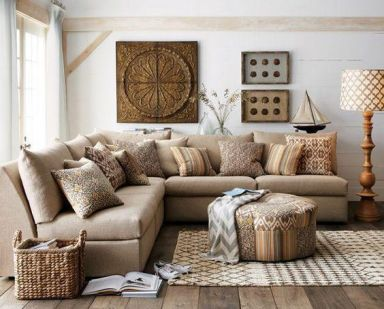 Easy rustic living room design ideas 19