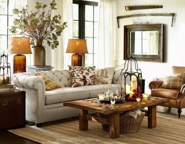 Easy rustic living room design ideas 24