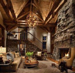 Easy rustic living room design ideas 33