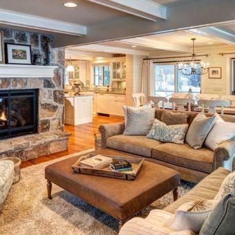 Easy rustic living room design ideas 41