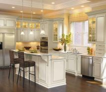 Elegant kitchen ideas with white cabinets 23
