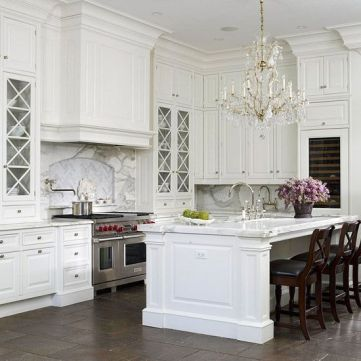 Elegant kitchen ideas with white cabinets 40