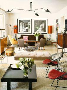Elegant mid century living room furniture ideas 24