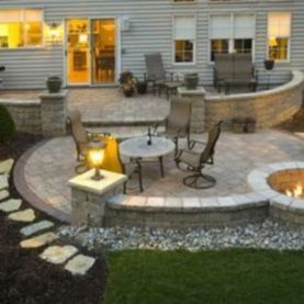 Fancy fire pit design ideas for your backyard home 31