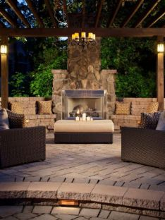 Fancy fire pit design ideas for your backyard home 36
