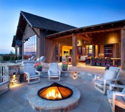 Fancy fire pit design ideas for your backyard home 38