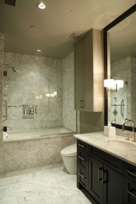 Lovely hotel bathroom design ideas that can be applied to your home 07