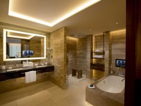 Lovely hotel bathroom design ideas that can be applied to your home 14