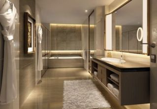 Lovely hotel bathroom design ideas that can be applied to your home 22