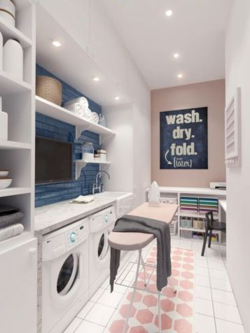 Stylish cabinets for laundry room 16