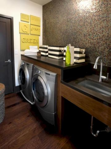 Stylish cabinets for laundry room 40