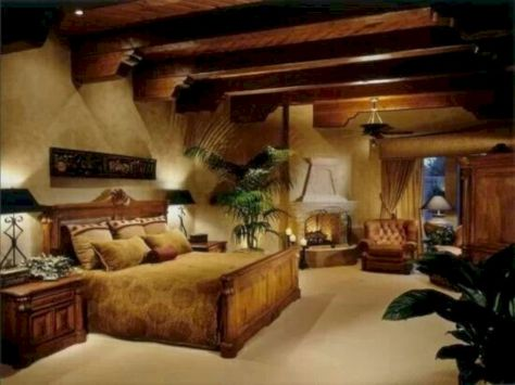 Attractive rustic italian decor for amazing bedroom ideas 37