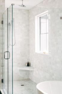 Awesome farmhouse shower tiles ideas 05
