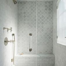 Awesome farmhouse shower tiles ideas 16