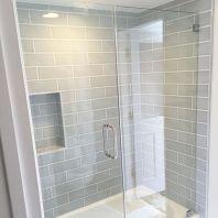 Awesome farmhouse shower tiles ideas 17