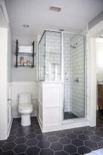 Awesome farmhouse shower tiles ideas 26