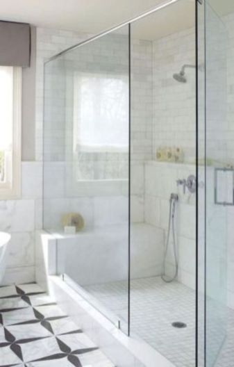 Awesome farmhouse shower tiles ideas 29