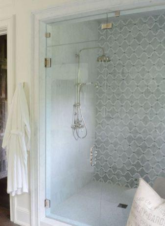 Awesome farmhouse shower tiles ideas 30