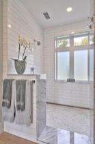Awesome farmhouse shower tiles ideas 46
