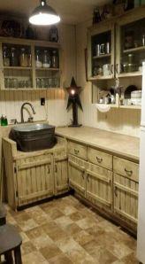 Brilliant rustic farmhouse kitchen cabinets remodel ideas 07