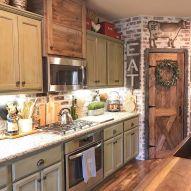 Brilliant rustic farmhouse kitchen cabinets remodel ideas 14