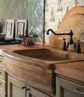 Brilliant rustic farmhouse kitchen cabinets remodel ideas 15