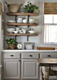 Brilliant rustic farmhouse kitchen cabinets remodel ideas 17