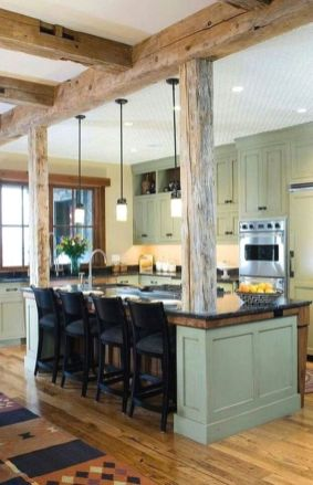 Brilliant rustic farmhouse kitchen cabinets remodel ideas 19