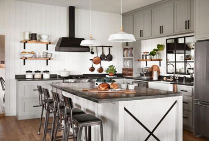 47 Brilliant Rustic Farmhouse Kitchen Cabinets Remodel Ideas Round