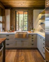 Brilliant rustic farmhouse kitchen cabinets remodel ideas 32