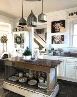 Brilliant rustic farmhouse kitchen cabinets remodel ideas 35