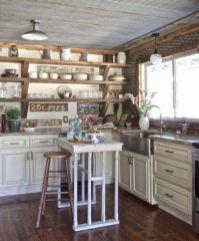 Brilliant rustic farmhouse kitchen cabinets remodel ideas 43