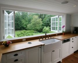 Cool farmhouse kitchen sink remodel ideas 13