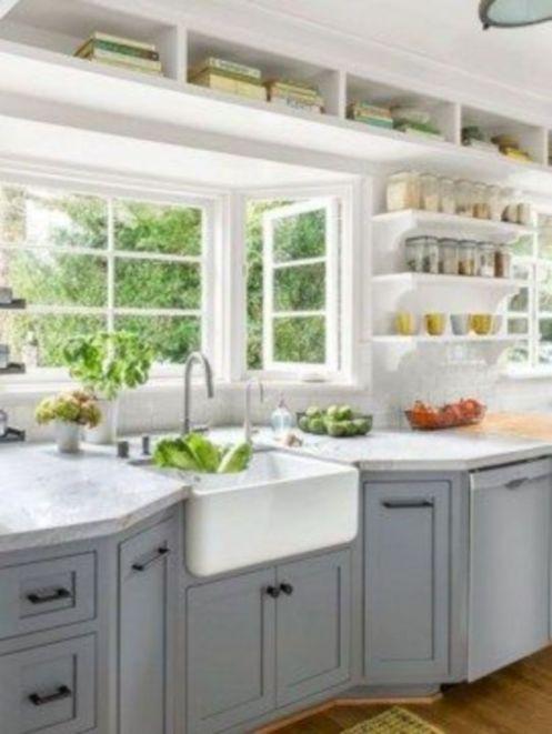 Cool farmhouse kitchen sink remodel ideas 20