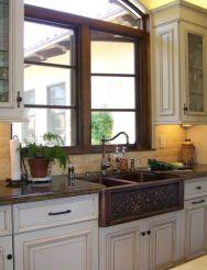 Cool farmhouse kitchen sink remodel ideas 27