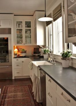 Cool farmhouse kitchen sink remodel ideas 37